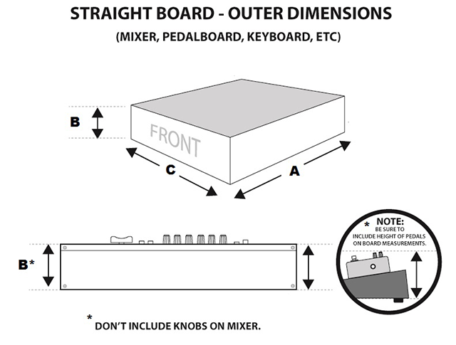 [Diagram of straight board component]