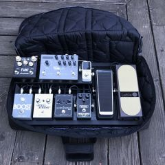 Photo of Board Shaped Clamshell Gig Bag Open